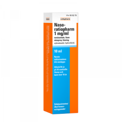 NASO-RATIOPHARM 1 mg/ml nenäsumute, liuos 10 ml